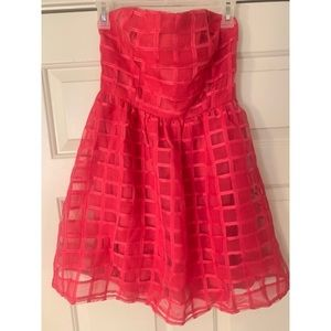 Small Hot Pink Strapless Dress